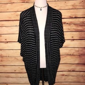 Urban Outfitters Black/White Striped Cocoon Cardi